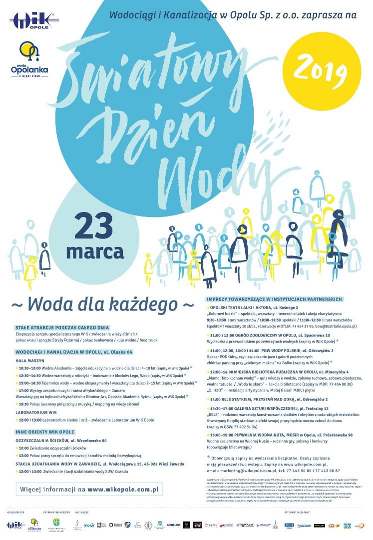 Światowy Dzień Wody plakat WiK Opole