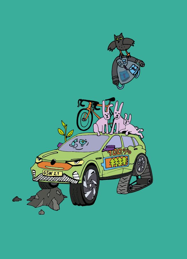 baner - ilustracja ukazująca pojazd